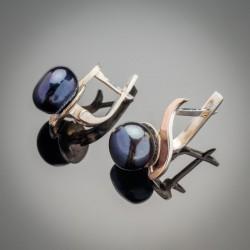 Серьги Лана, серебро 925 пробы и жемчуг