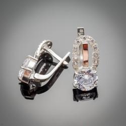 Серьги из серебра Василиса с цирконием
