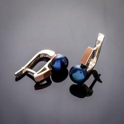 Небольшие серьги Вера, серебро 925 пробы и жемчуг