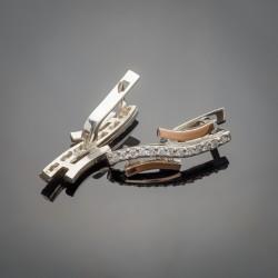 Удлиненные серебряные серьги Ивушка