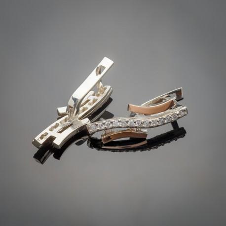 Удлиненные серебряные серьги Ивушка, арт. 2097