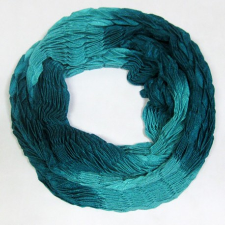 Двухцветный шарф-хомут (бирюза)