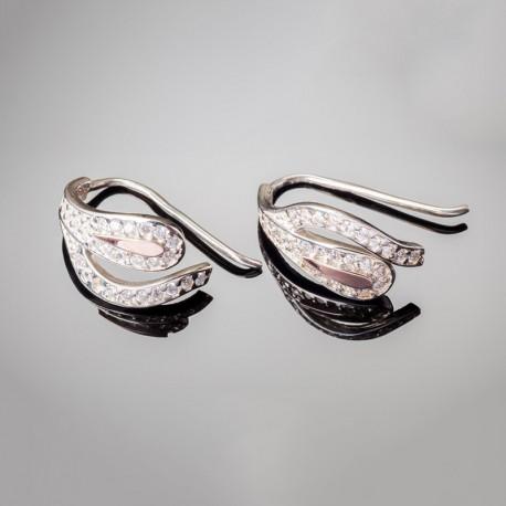 Серебряные серьги Мальва (застежка-петля)