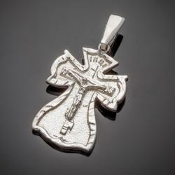 Массивный серебряный крест с распятием