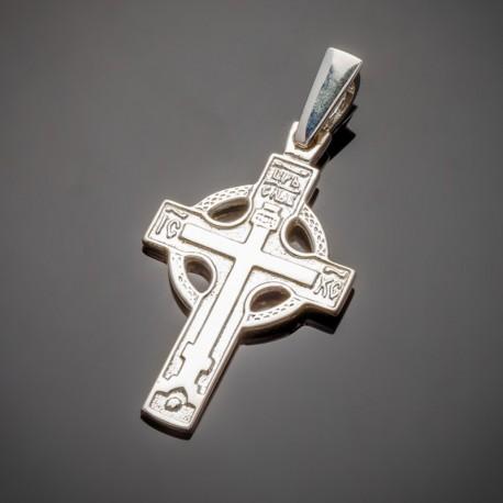 Cеребряный крест с молитвой