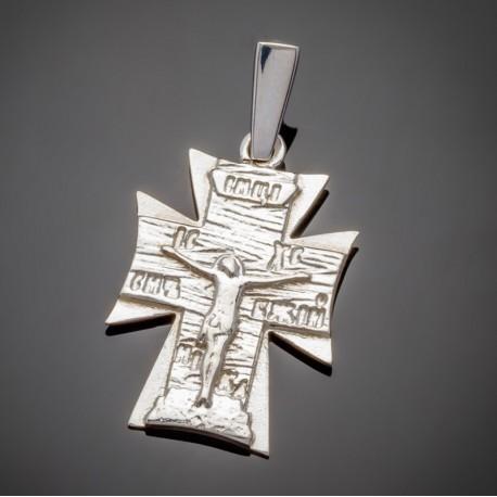 Серебряный крест, распятие