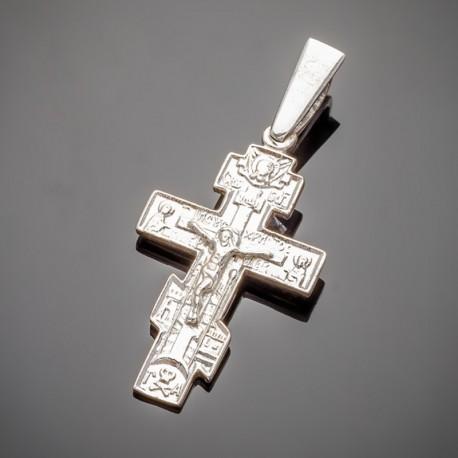Классический серебряный крест