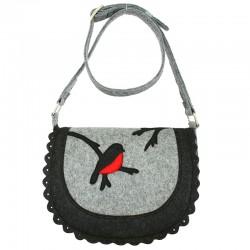 Женская сумка из войлока СНЕГИРЬ