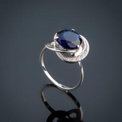 Женское серебряное кольцо Троянда