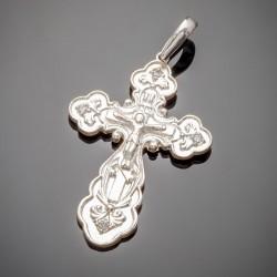 Серебряный крест с фианитом