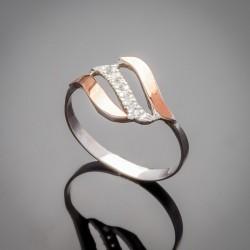 Женское кольцо Фаина со вставками из золота и фианита