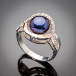 Женское серебряное кольцо Лючия с жемчугом