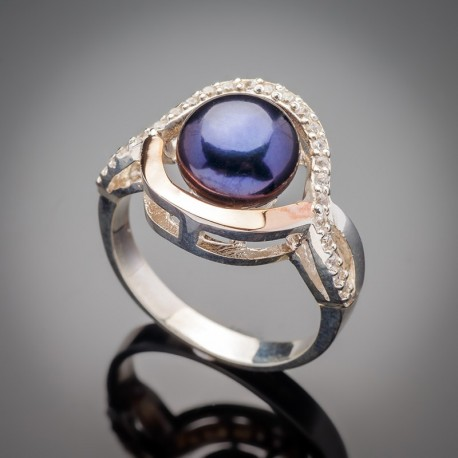 Кольцо Лючия со вставками из жемчуга