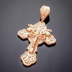 Крестик с распятием, позолота 585