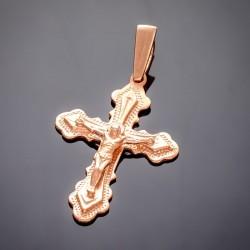 Позолоченный крест с распятием Иисуса Христа