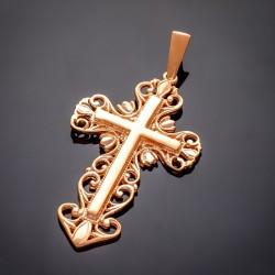 Позолоченный крестик 585 пробы
