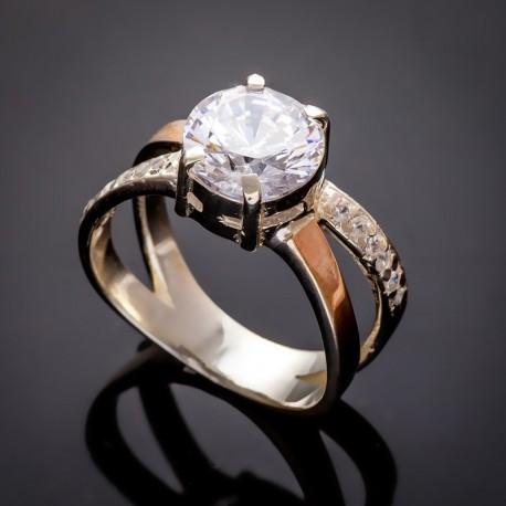 Женское серебряное кольцо Мария (белый)