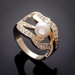 Необычное серебряное кольцо Надежда с жемчугом