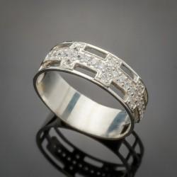 Серебряное кольцо Натали - вставки цирконий