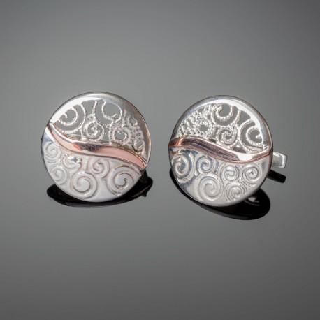 Серебряные серьги Волна