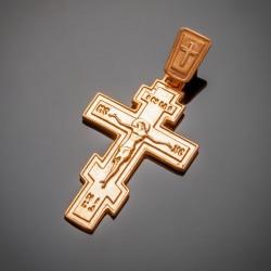 Традиционный крест с распятием Иисуса Христа, позолота