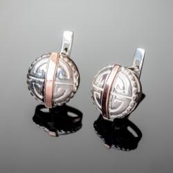 Серебряные серьги Амазонка