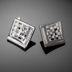 Серебряные серьги Любава