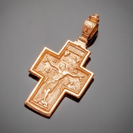 Серебряный крест (позолота)