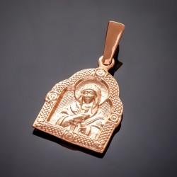 Серебряная ладанка Богородицы, позолота