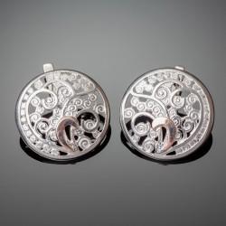 Серебряные серьги Тропиканка