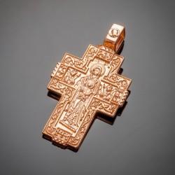 Серебряный крест с Божей Матерью, позолота