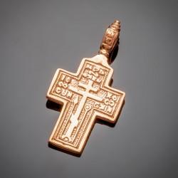 Позолоченный крест с молитвой