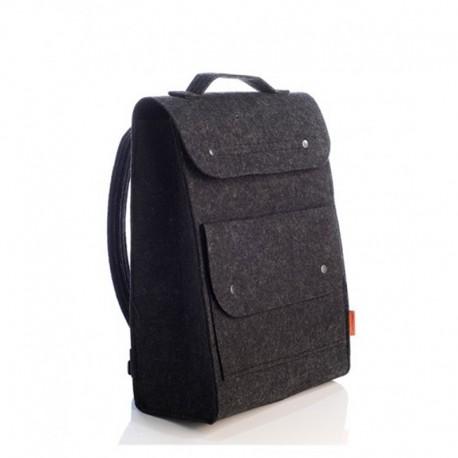 Рюкзак из войлока с карманом (черный)