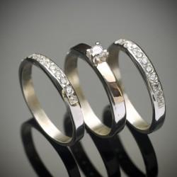 Набор серебряных колец Трио