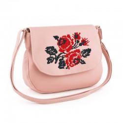 Почтальйонка с вышивкой РОЗЫ (розовый)