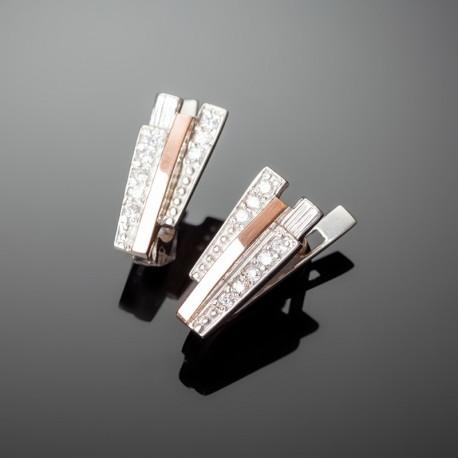 Серебряные серьги Олимп