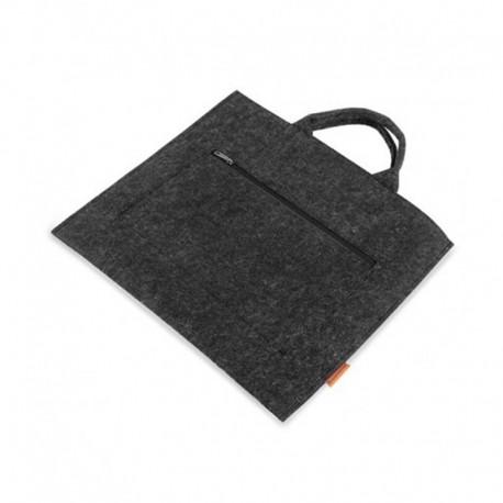 Женская сумка-папка с карманом