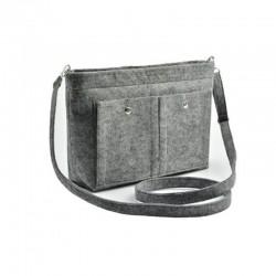 Небольшая сумка из войлока (серый)