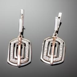 Серебряные серьги Итака