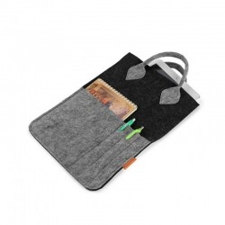 Сумка-планшетка из войлока с карманом
