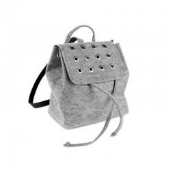 Модный войлочный рюкзак с заклепками