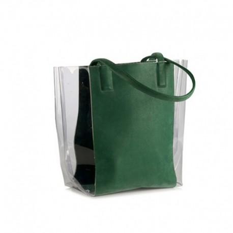 Прямая сумка со вставками
