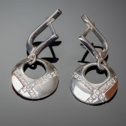 Серебряные серьги Рассвет