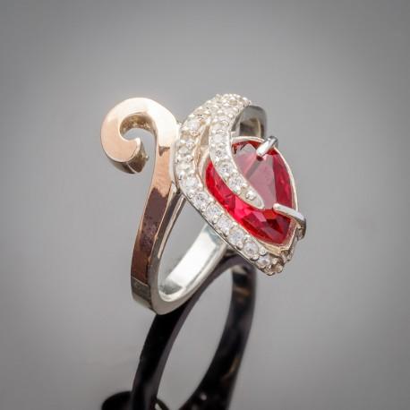 Серебряное кольцо Сильвия