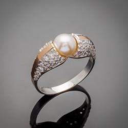 Серебряное кольцо Алла с жемчугом