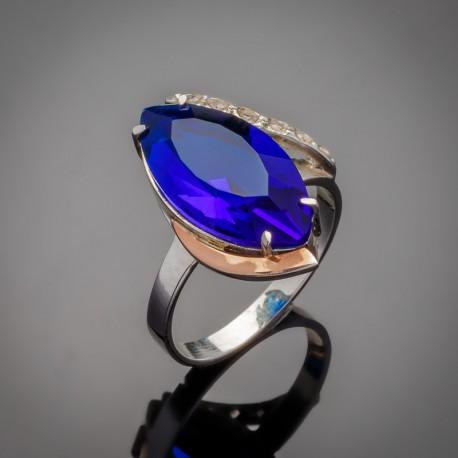 Женское серебряное кольцо Марго