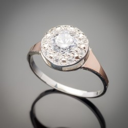 Роскошное серебряное кольцо Олеся