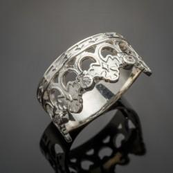 Серебряное кольцо Осень - вставки цирконий