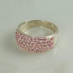 Серебряное кольцо Злата (розовый)