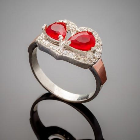 Серебряное кольцо Любовь